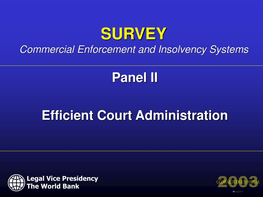 panel ii efficient court administration l.