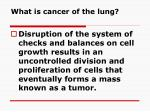 what is cancer of the lung