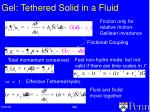 gel tethered solid in a fluid