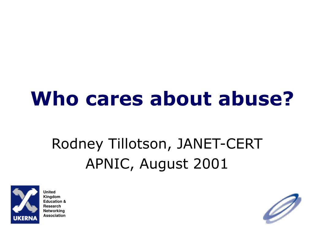 who cares about abuse l.