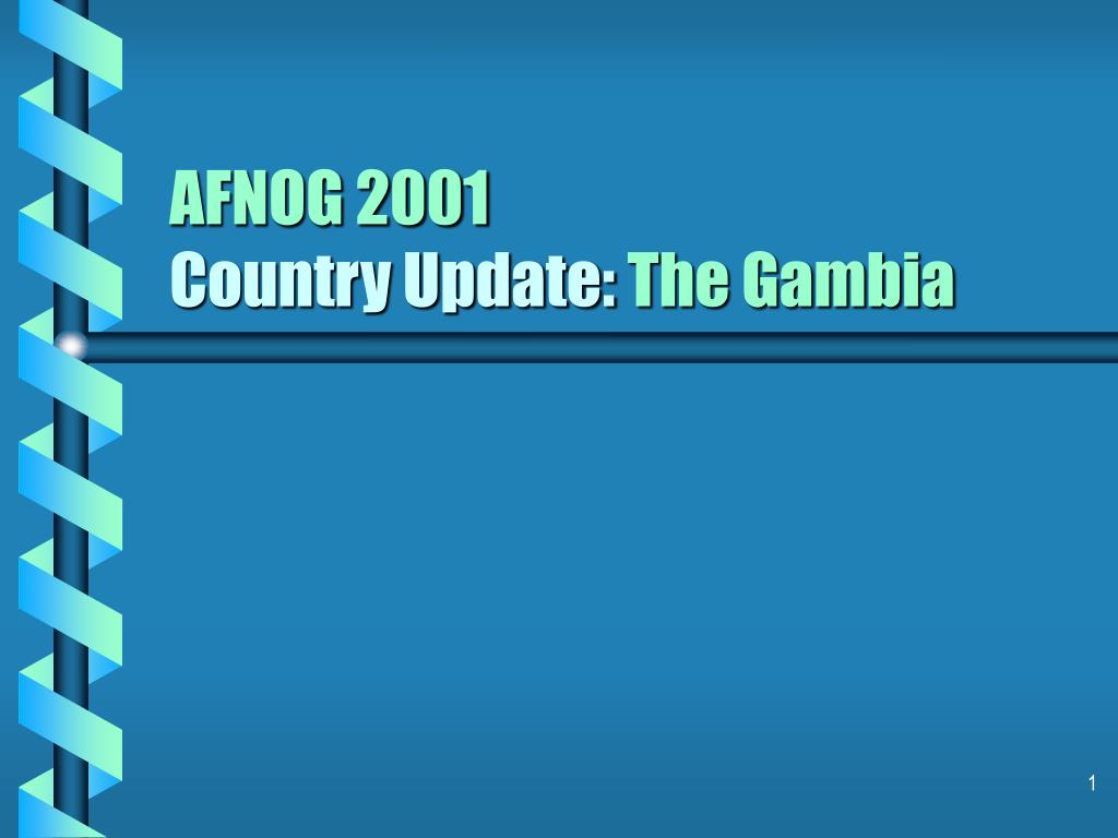 afnog 2001 country update the gambia l.