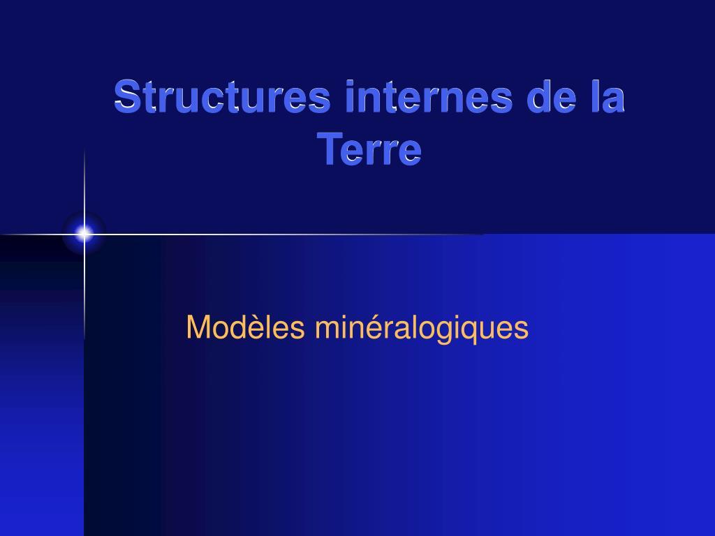 structures internes de la terre l.