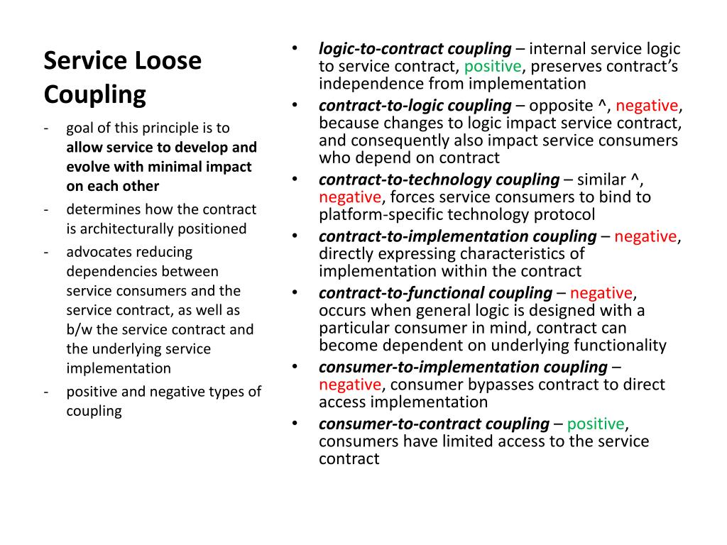 Service Loose Coupling