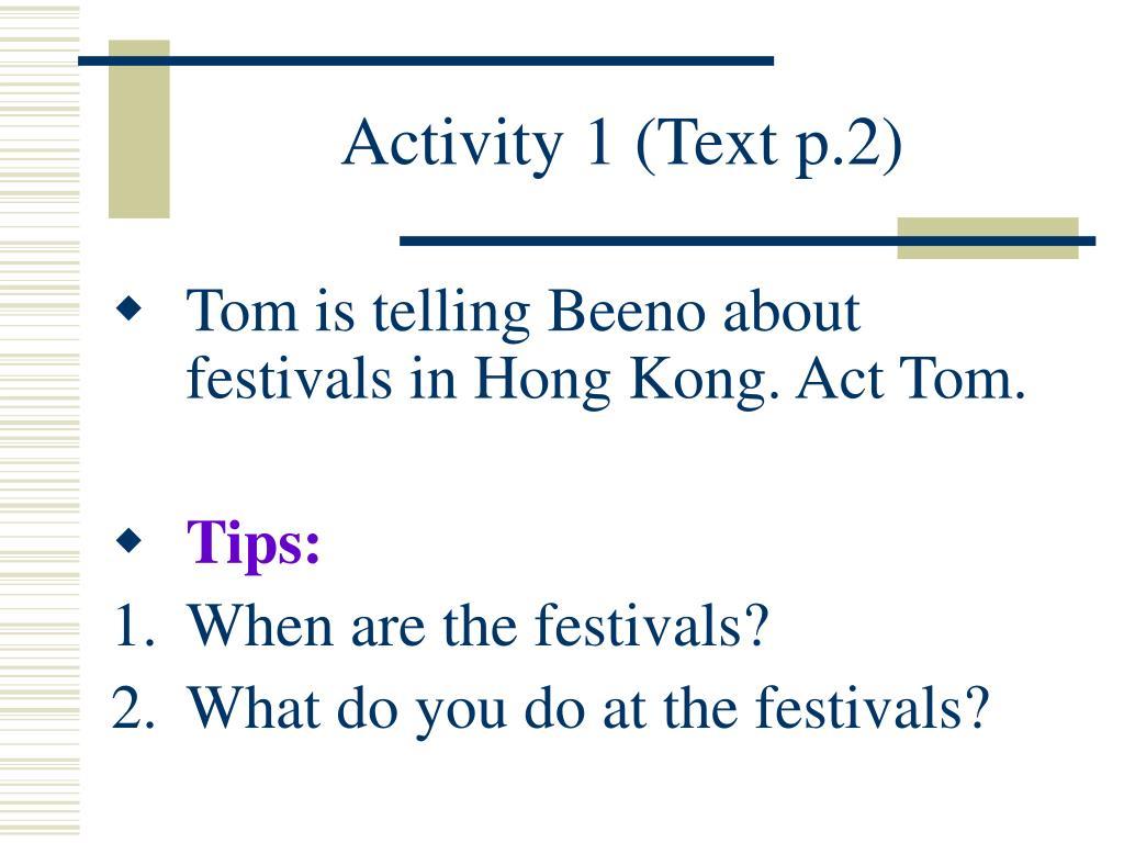 Activity 1 (Text p.2)
