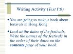 writing activity text p 6