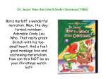 dr seuss how the grinch stole christmas 1966