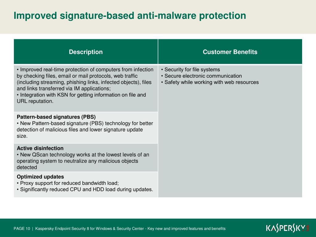 PPT - Kaspersky Endpoint Security 8 for Windows Kaspersky