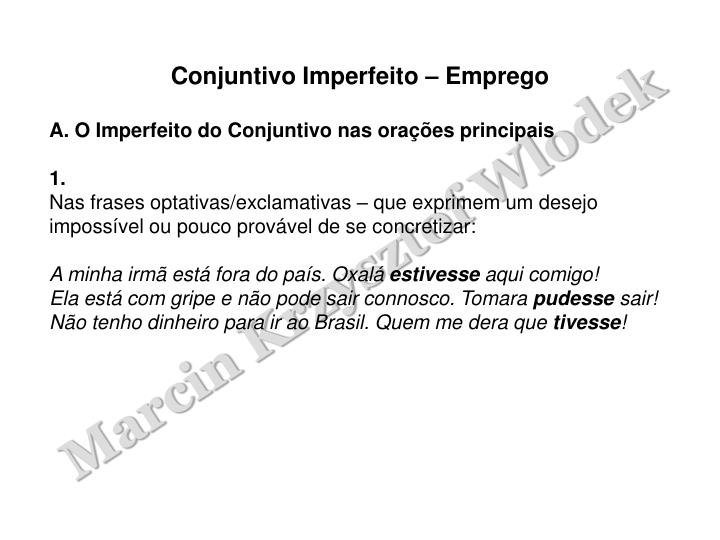 Ppt Imperfeito Do Conjuntivo Powerpoint Presentation Id586025