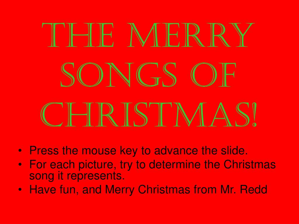 the merry songs of christmas l.