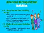 american heritage strand activities7