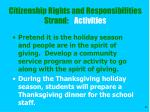 citizenship rights and responsibilities strand activities