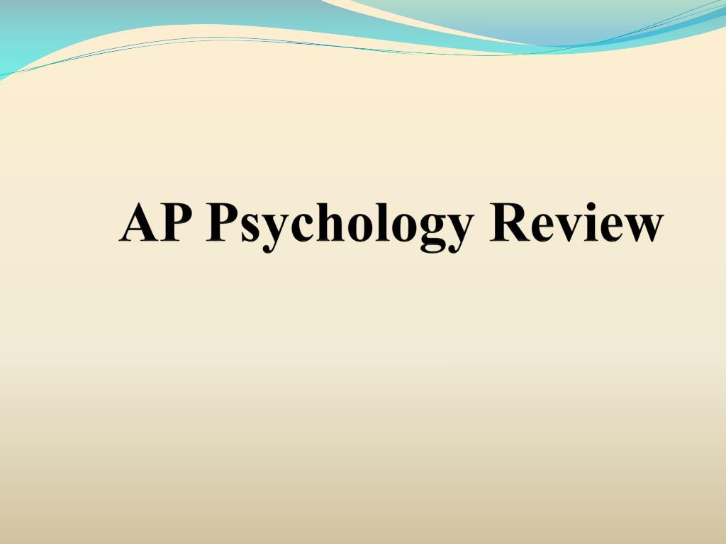 ap psychology review l.