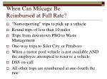 when can mileage be reimbursed at full rate