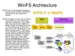 winfs architecture