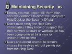 maintaining security 5