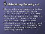 maintaining security 6