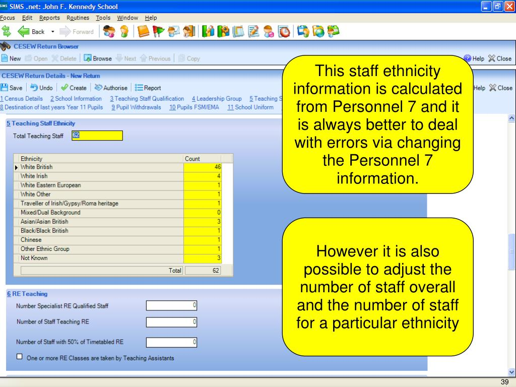 This staff ethnicity information is calculated from Personnel 7 and it is always better to deal with errors via changing the Personnel 7 information.