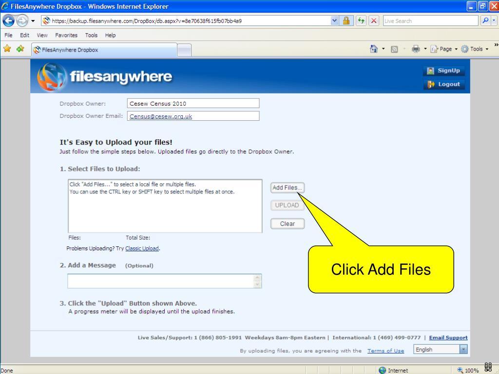 Click Add Files