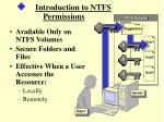 introduction to ntfs permissions