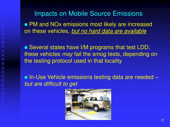 Impacts on Mobile Source Emissions