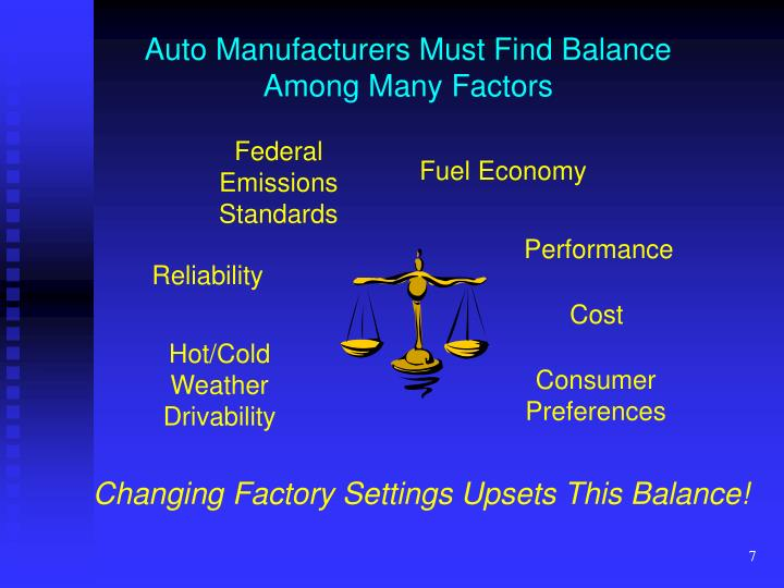 Auto Manufacturers Must Find Balance Among Many Factors