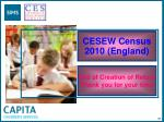 cesew census 2010 england97