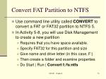 convert fat partition to ntfs