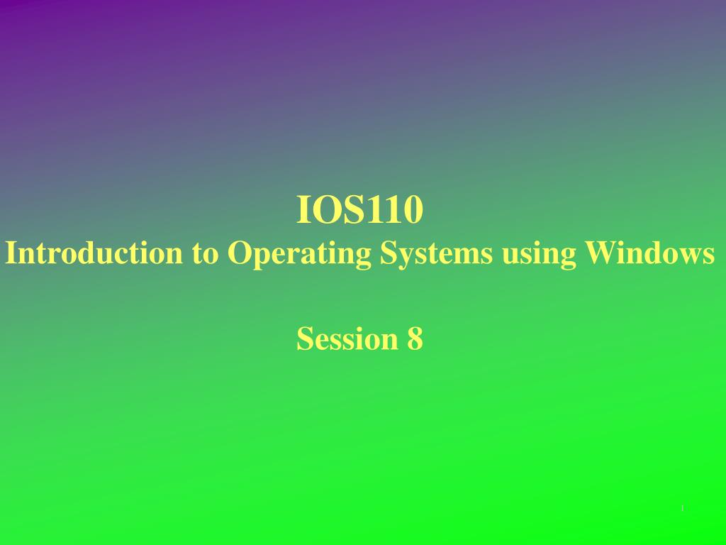 an introduction to the windows operating system