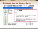 download data via secured server62