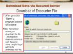 download data via secured server63