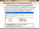 download data via secured server64
