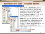 submission of data secured server47
