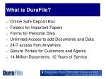 what is durafile