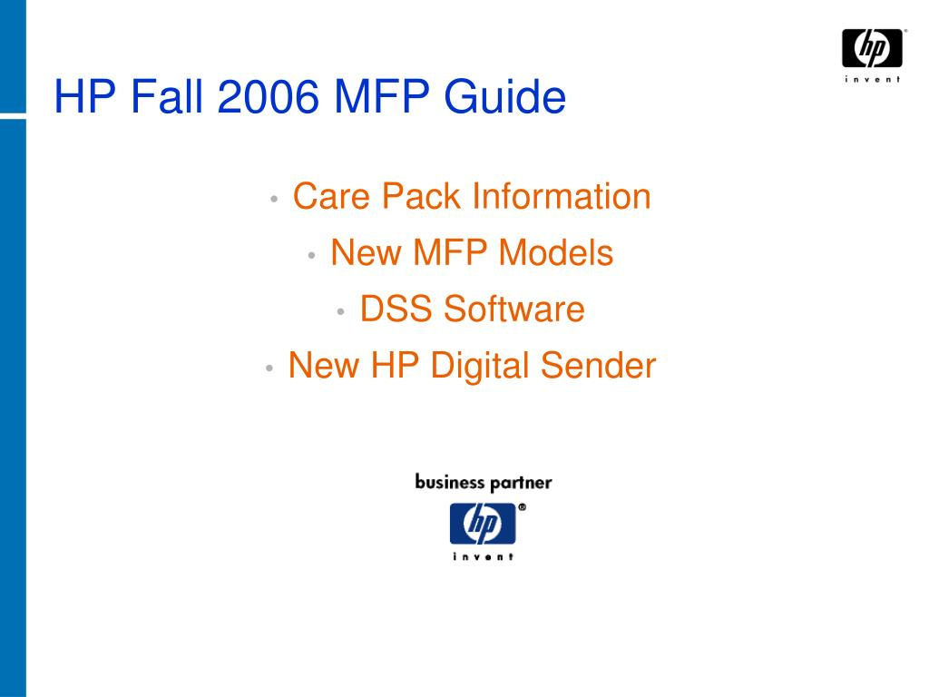 hp fall 2006 mfp guide l.
