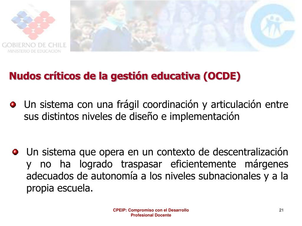 Nudos críticos de la gestión educativa