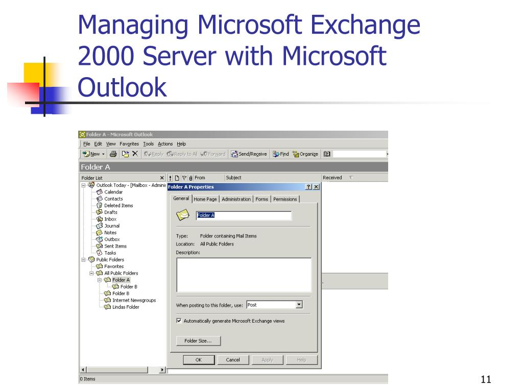 Managing Microsoft Exchange 2000 Server with Microsoft Outlook