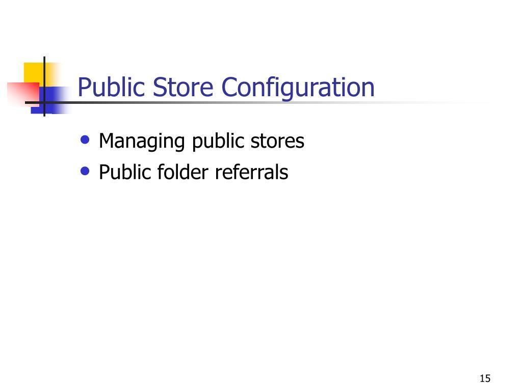 Public Store Configuration
