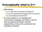 conceptually what is c