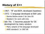 history of c