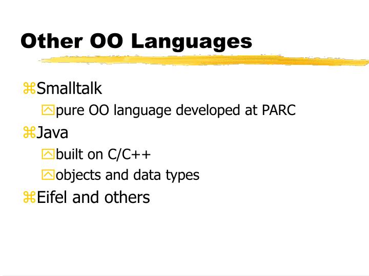 Other OO Languages