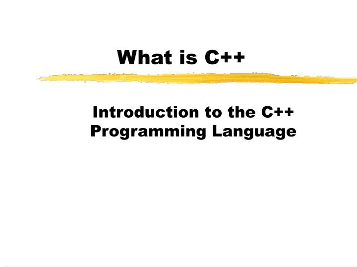 What is c