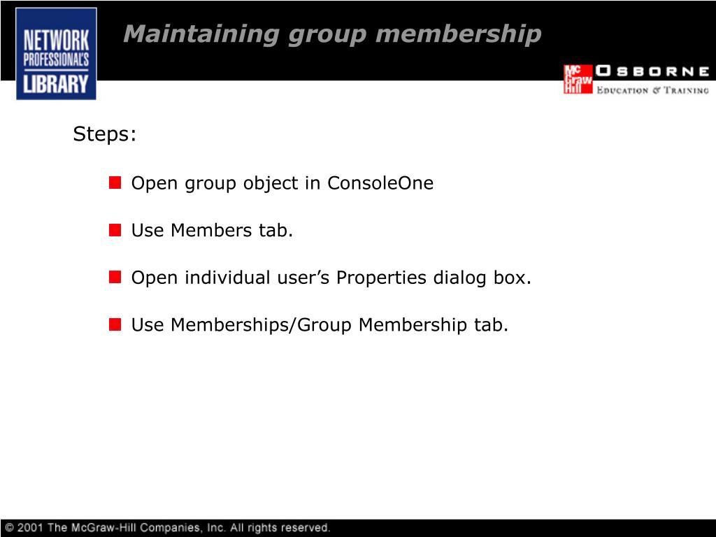 Maintaining group membership