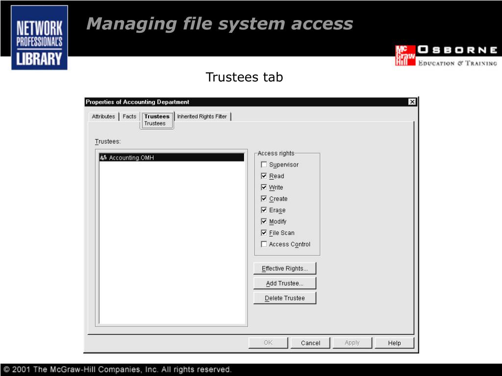 Managing file system access