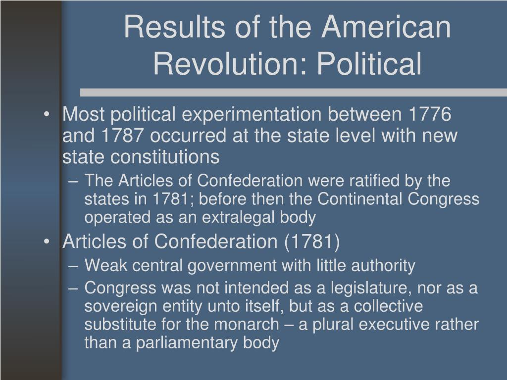 Results of the American Revolution: Political