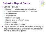 behavior report cards