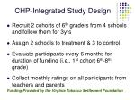 chp integrated study design