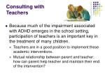 consulting with teachers