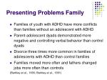 presenting problems family