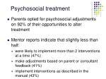 psychosocial treatment76
