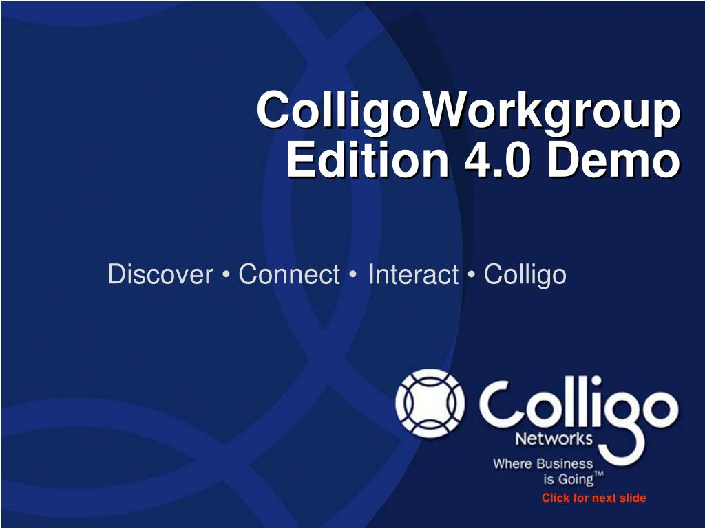 colligoworkgroup edition 4 0 demo l.